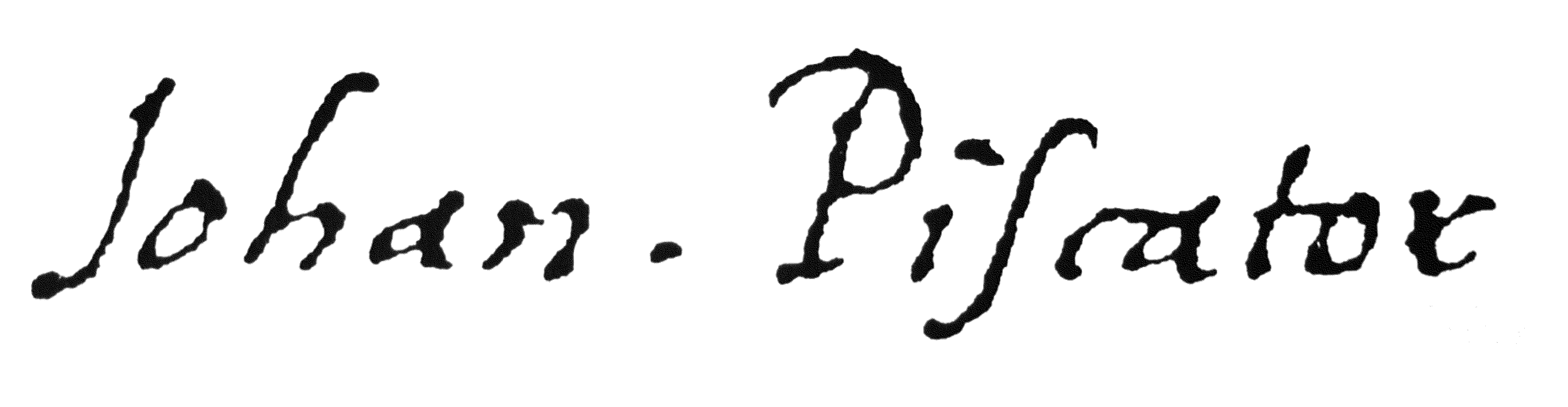 Piscator Signatur
